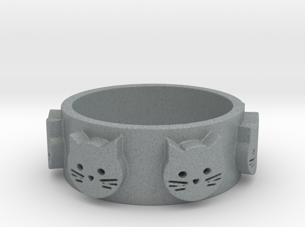 Ring of Seven Cats Ring Size 7 3d printed