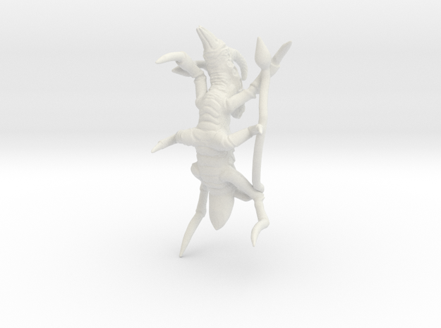 Xachni Alien Creature in White Strong & Flexible