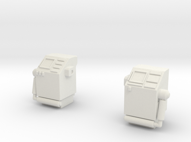 CP09 Flight Control Stations (28mm) in White Natural Versatile Plastic