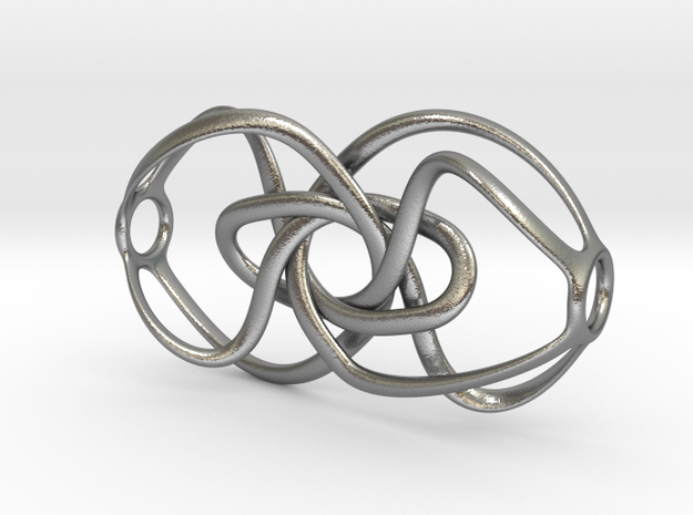 Expanding Knot - Pendant in Natural Silver