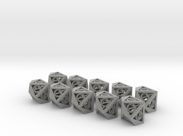Deathly Hallows 10d10 Set 3d printed