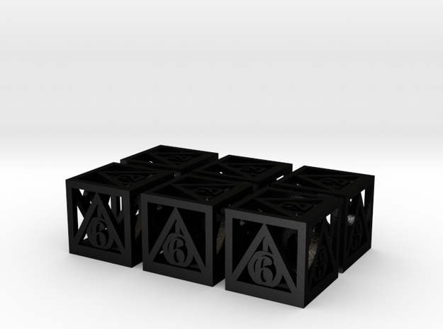 Deathly Hallows 6d6 Set 3d printed