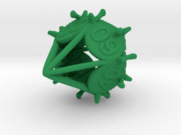 Swords and Shields D&D Dice set Decader 3d printed