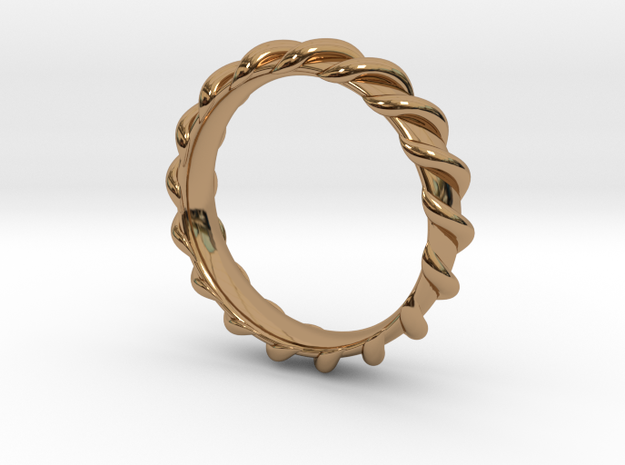 Spiral Wrapped Ring - Size US7 3d printed