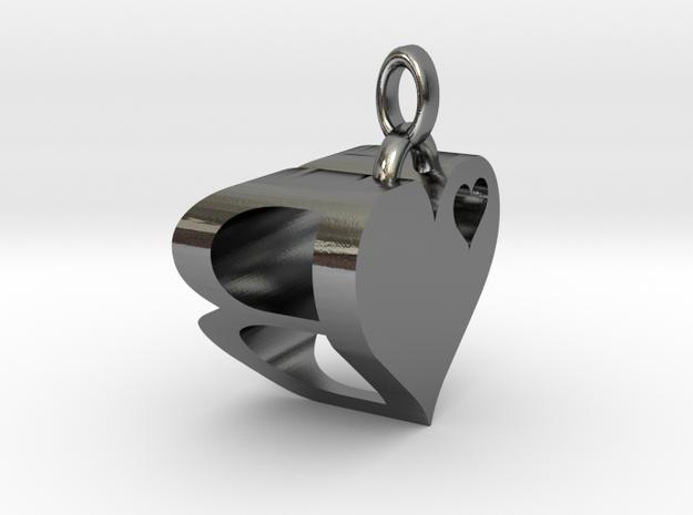 Heart Pendant Letter 3d printed