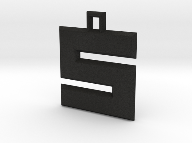 ABC Pendant - S/5 Type - Solid - 24x24x3 mm 3d printed