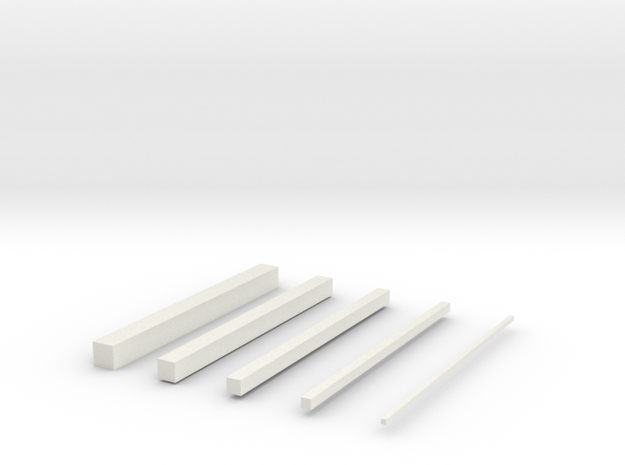 thin bars in White Natural Versatile Plastic