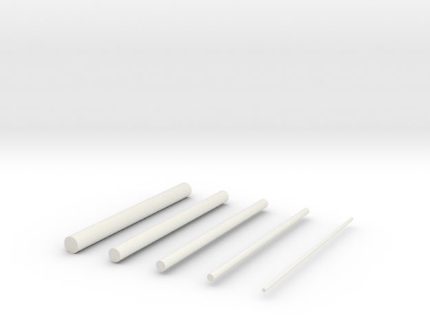 thin rods in White Natural Versatile Plastic