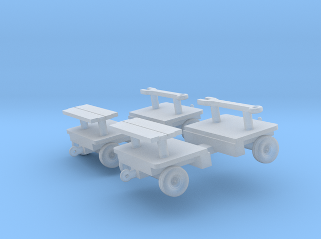 1/144 AERO-51E MUNITIONS TRAILER (2X) (finished) 3d printed
