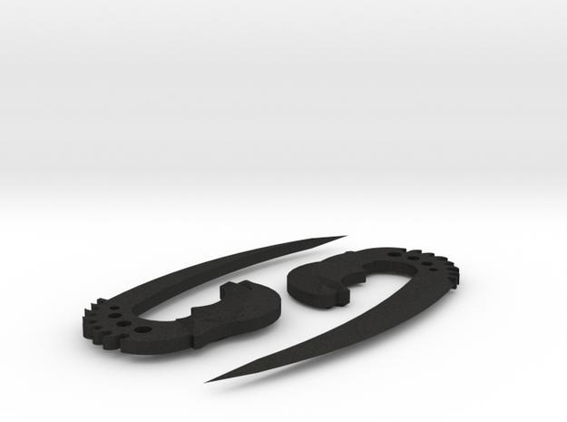 saberclaws in Black Acrylic