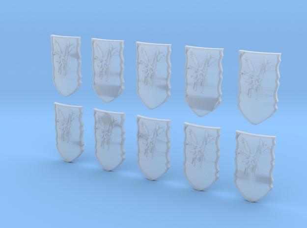 10mysticBirdShield in Smooth Fine Detail Plastic