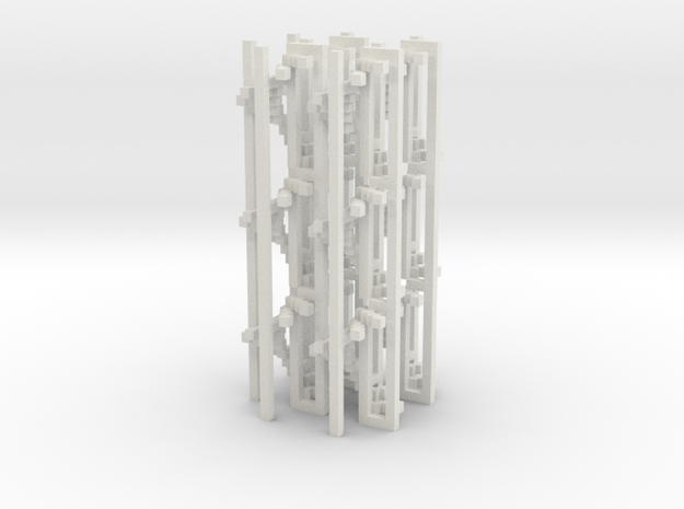 4 Spiral Staircases 36 steps 3d printed