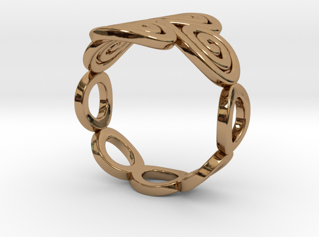Spirals & Ovals Ring (Closed Version ) - Size18 3d printed