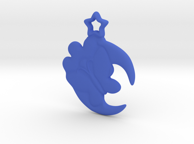 Butterfly on flower, Moon and star pendant design 3d printed