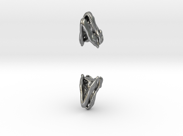 T Rex skull earring 3d printed