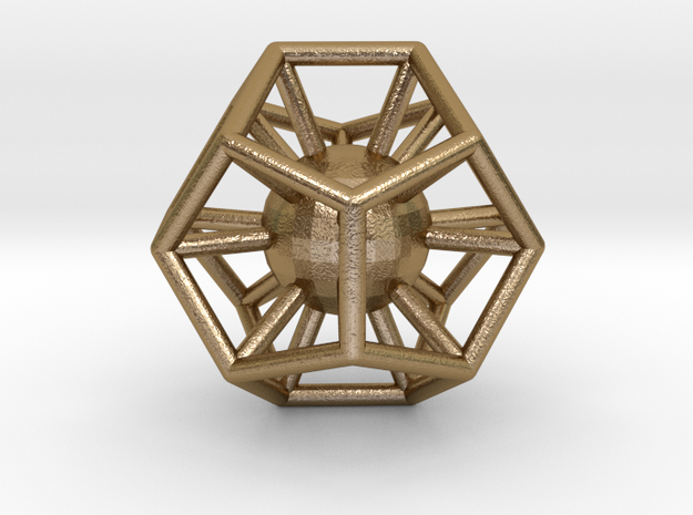 dodecahedron ball inside 3d printed