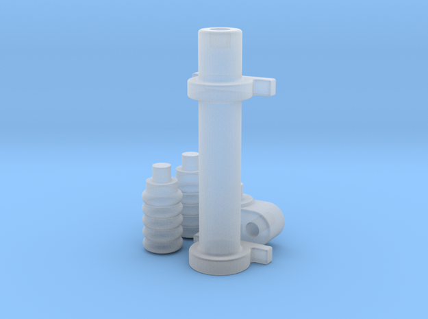 1/12 Generic Rack and Pinion Steering unit 3d printed