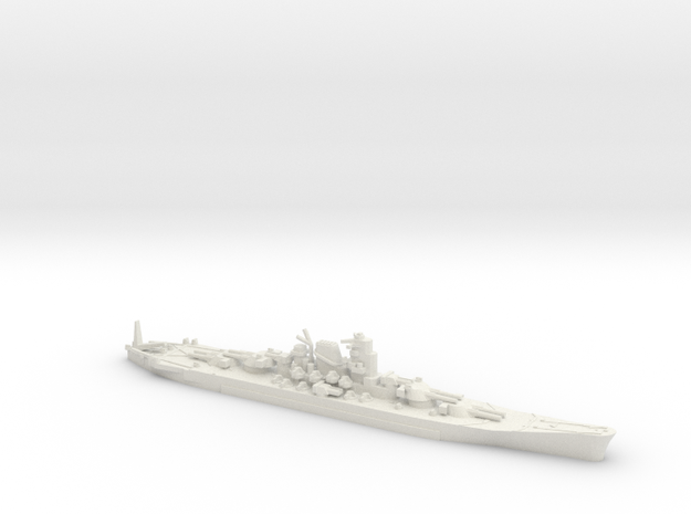 "1/3000 IJN Never Were Super Yamato 8 x 20"" in White Strong & Flexible"
