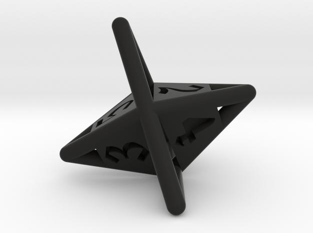 d6 die-pyramid 3d printed