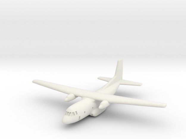 1:700 Transall C-160 military transport aircraft  in White Natural Versatile Plastic