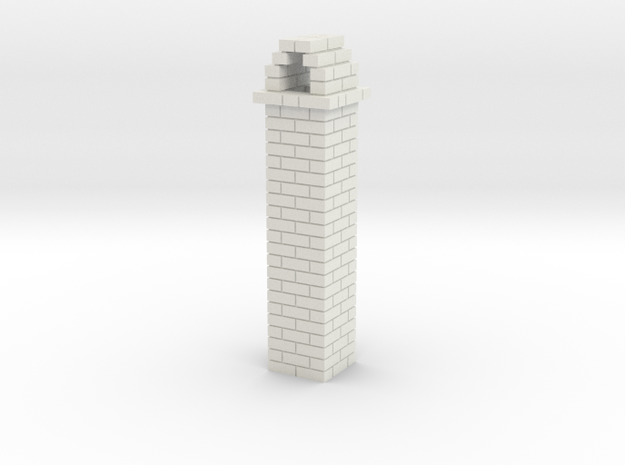 Brick Chimney 01 HO scale in White Strong & Flexible