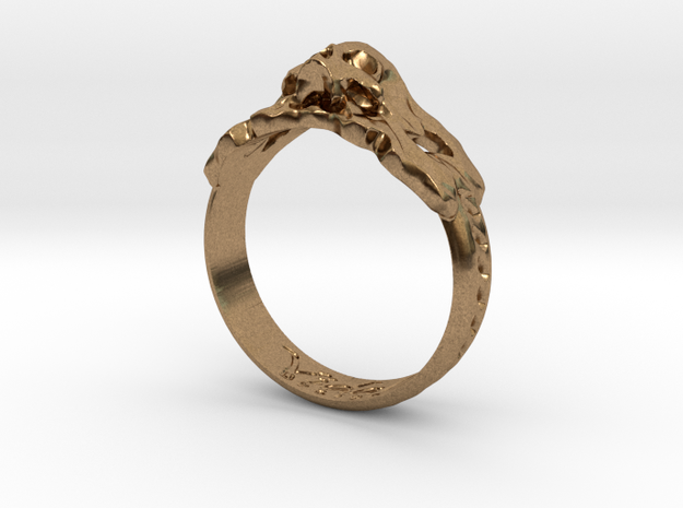 Antique inspired Skull Ring 3d printed