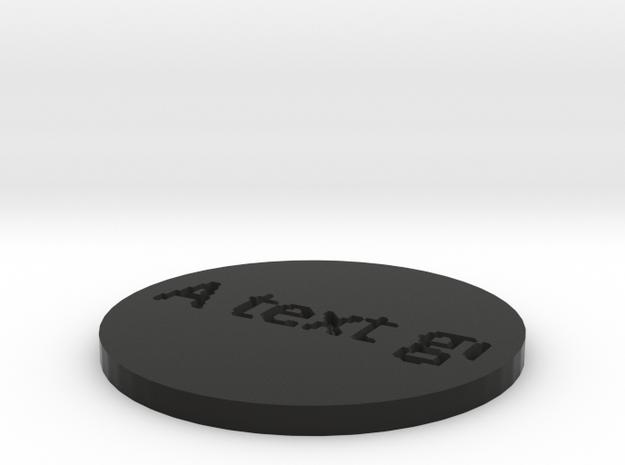 by kelecrea, engraved: A text go 3d printed