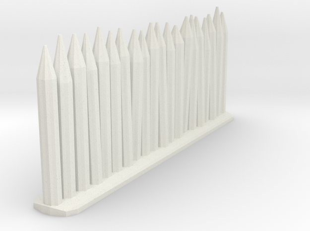 Wooden stakes in White Natural Versatile Plastic
