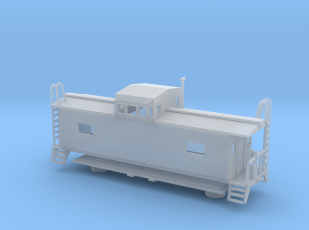 Monon Caboose - Nscale in Smooth Fine Detail Plastic
