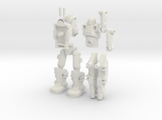 Sci Fi Trooper_2.5inches in White Natural Versatile Plastic