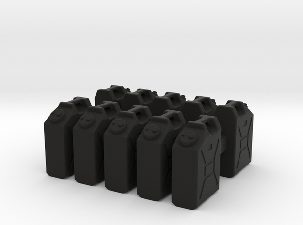 1/35 US Military Water Cans in Black Natural Versatile Plastic