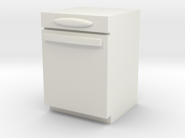 1:24 Dishwasher in White Natural Versatile Plastic