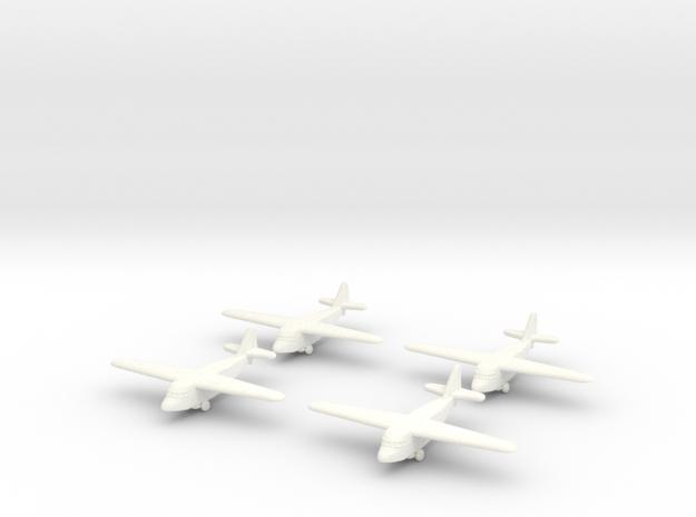 Kokusai Ku-8 (x4) (Global War Scale) in White Strong & Flexible Polished