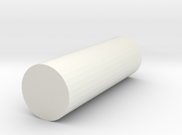 rod poly 8x8x25 in White Natural Versatile Plastic