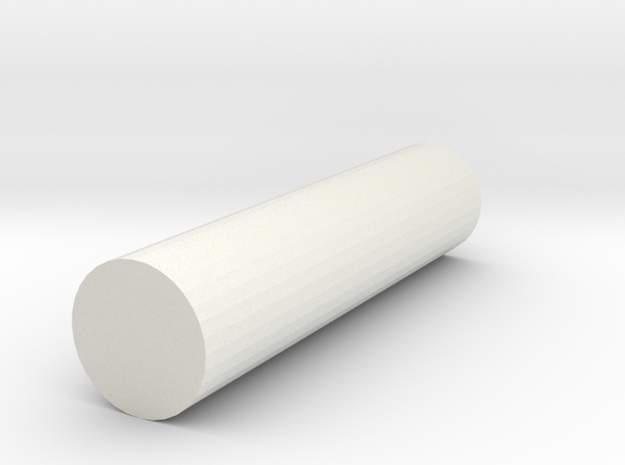 rod poly 6x6x25 in White Natural Versatile Plastic