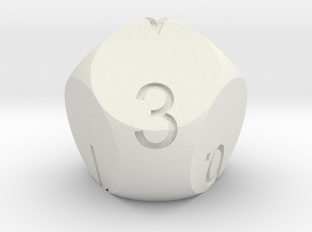 D7 3-fold Sphere Dice 3d printed In Alumide