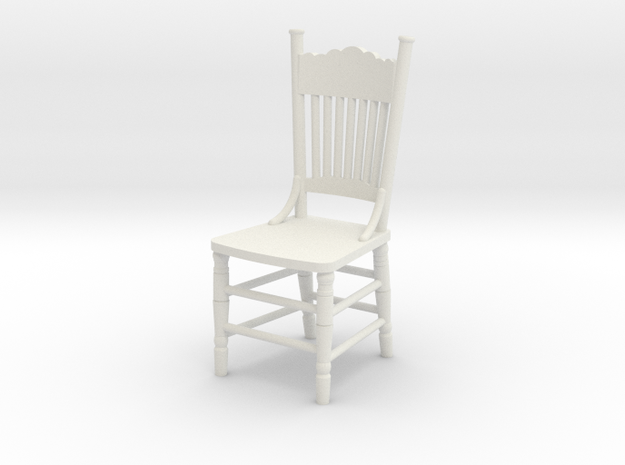 1:24 Kitchen Chair in White Natural Versatile Plastic