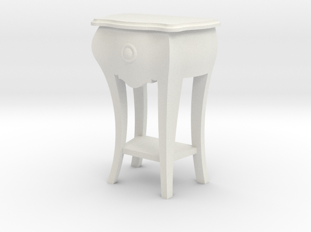 1:24 Bombe Lamp Table in White Natural Versatile Plastic