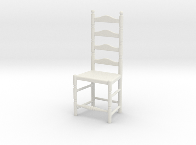 1:24 Lad Chair 7 in White Natural Versatile Plastic