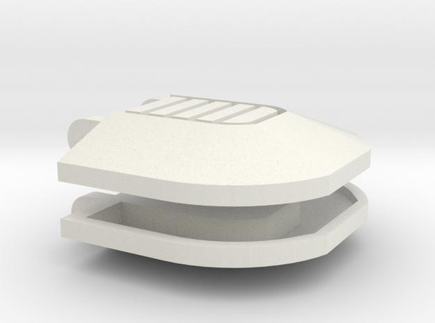 1:6 scale Fist Plate Alt 1 pair in White Natural Versatile Plastic