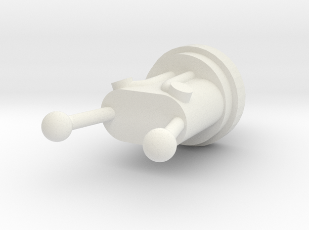Robot Knight´s Taser in White Natural Versatile Plastic