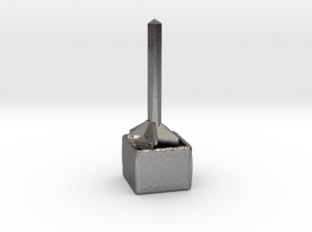 Puzzle ring holder in Polished Nickel Steel