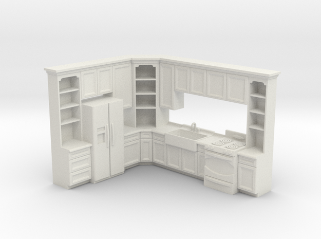 1:48 Farmhouse Kitchen B in White Strong & Flexible