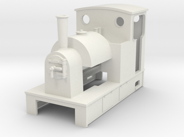 Sn2 Saddle Tank tram loco in White Natural Versatile Plastic