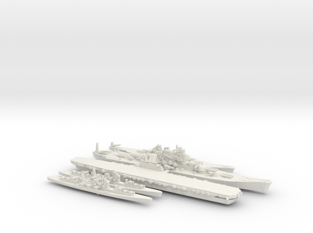 1/2400 Scale Never Were IJN Fleet in White Strong & Flexible