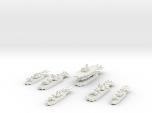 Chilean Carrier Battle Group in White Natural Versatile Plastic
