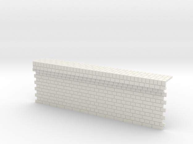 7mm English Bond Brick Station Platform Facing Sec in White Natural Versatile Plastic