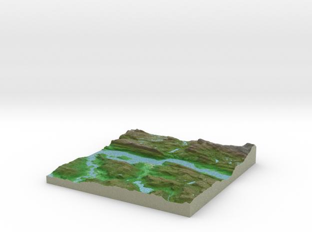 Terrafab generated model Wed Jan 22 2014 10:09:21  in Full Color Sandstone