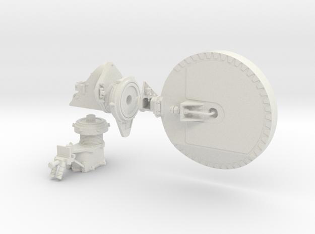 Mars Rover HGA Dish 1:4 Scale in White Natural Versatile Plastic