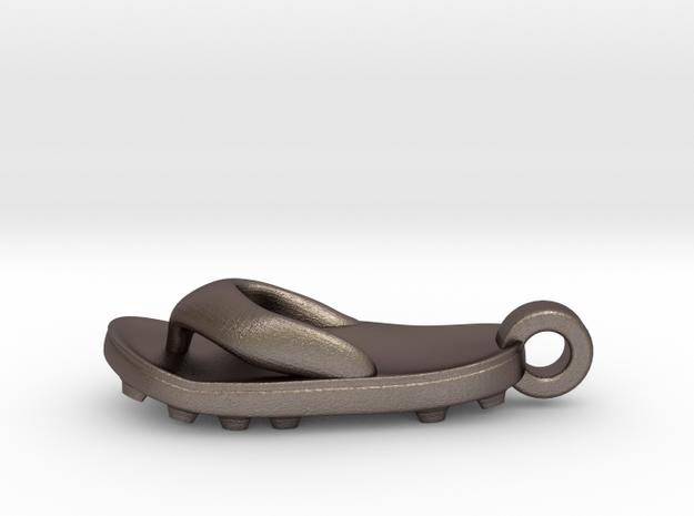 Soccer / football flipflop pendant 3d printed flipflop sandalStainless Steel